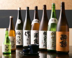 豊富な日本酒のプレミアム飲み放題