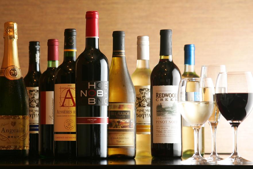 厳選されたワインリスト