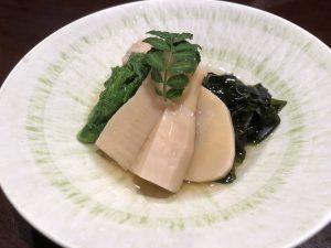 赤坂 接待宴会に若竹煮